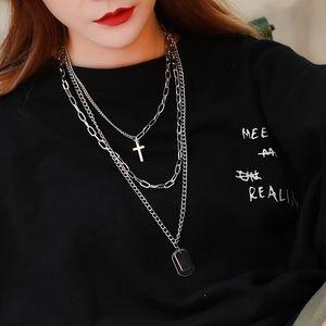 """Zoeber """"Punk"""" Necklaces- Silver"""